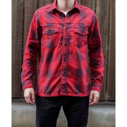 ONI 02100-RED Shirt Jacket(RED)(ONE-WASHED)