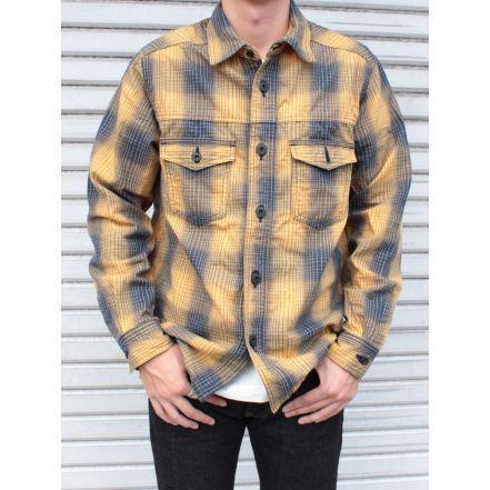 ONI 02100-YELLOW Shirt Jacket(YELLOW)(ONE-WASHED)