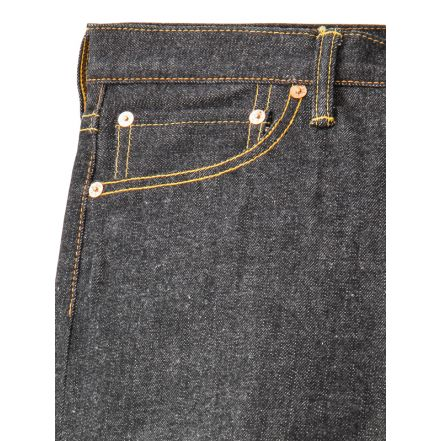 4001 13.5oz Black Denim Pants Knee Fit Straight