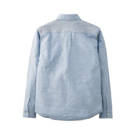 4967 OXFORD B.D SHIRTS (White, Blue)