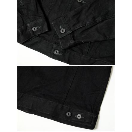 71955-99 Lot.71955 15oz Black x Black Denim Jacket (black)