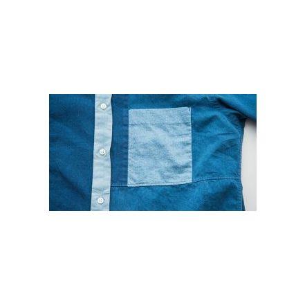 8063110975 8063-1109 predecessor Indigo plain crazy S / R Shirt # 75 INDIGO