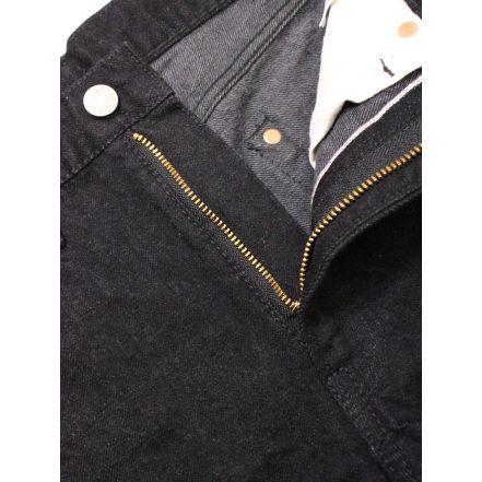 8074-1406 13.5oz 5 Pocket Selvedge Black Jeans Slim Fit