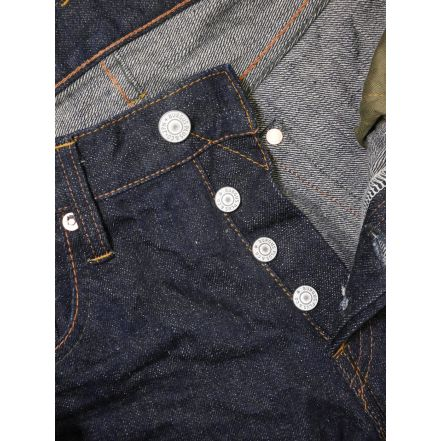 850-17 16oz Natural Indigo Low Tension Denim Non Arc Version(One washed)