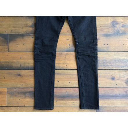 BS-S2-DP17 404XXB 12oz BLACK 3D BONE -SKINNY-