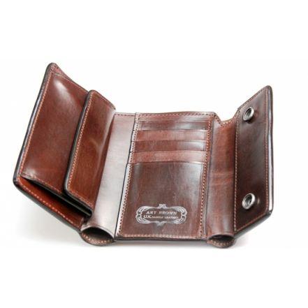 EAW00056AB UK saddle leather wallet (3 COLORS)