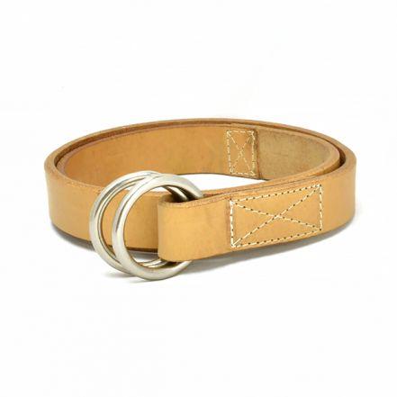 ENB30139AB UK saddle leather W-ring belt (4 COLORS)