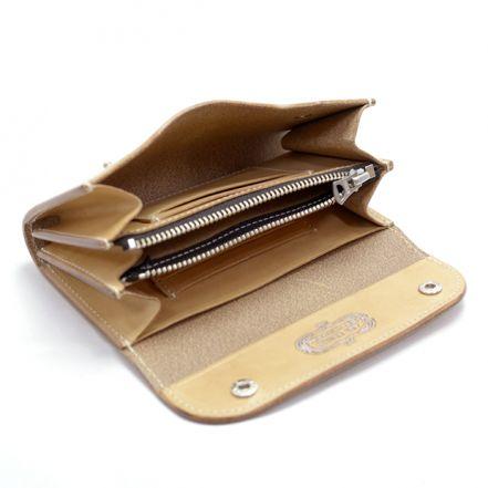 ENW00087AB UK saddle leather wallet flap type