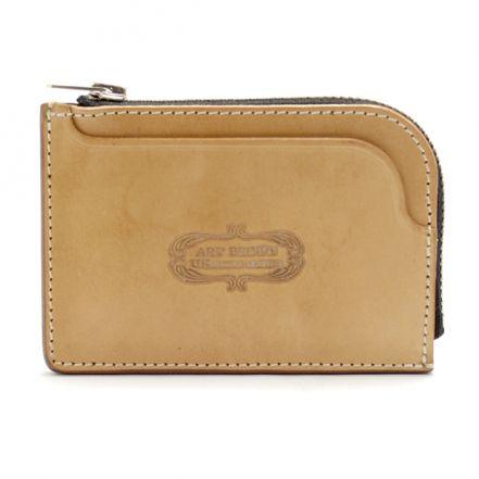 ENW00089AB UK saddle leather L-shaped mini wallet purse