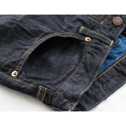 H0205C  Copper Label 10oz Deep Colored Indigo Slim shorts (ID) ( One Washed)