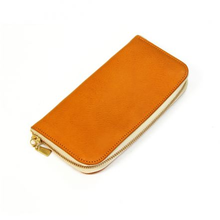KGW00002DN Italian leather Arizona Zip Around Wallets