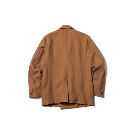 M-19313 RETORO POLYESTER TWILL 2B DOUBLE BREASTED JACKET(3 COLORS)