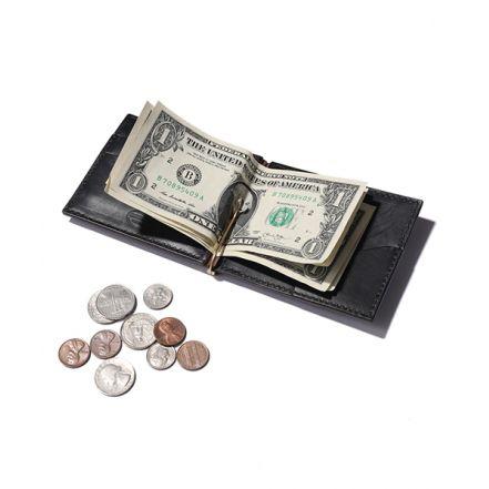 ME113H HORWEEN CHROMEXCEL LEATHER MONEY CLIP WALLET(2 COLORS)