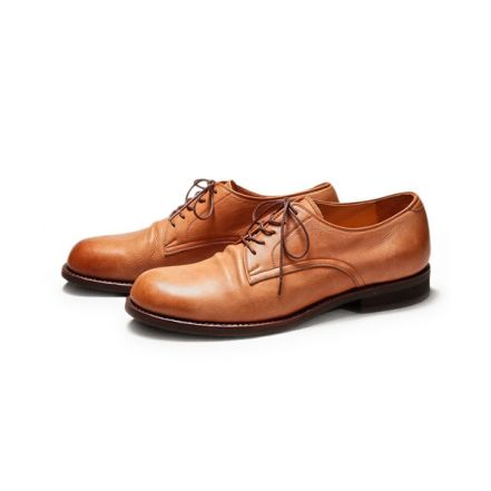 ME527 WATER PROOF SHIRINK LEATHER / PLAIN TOE OXFORD SHOES