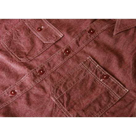 MS033 5oz chambray work shirt (RED)
