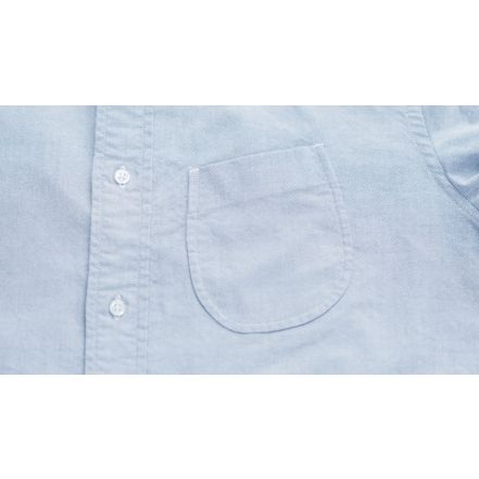 8061-1101 Supima Oxford B.D Shirt (Blue)