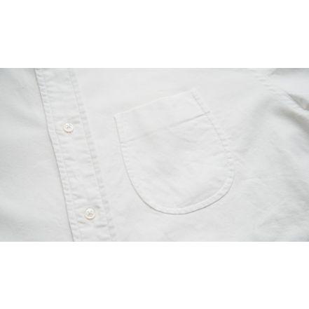 8061-1101 Supima Oxford B.D Shirt (White)