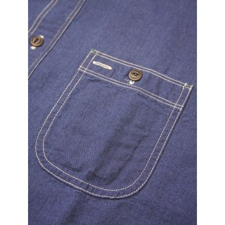 HBP-300CHB Lot.300 Beta Chambray Work shirt Indigo x Indigo