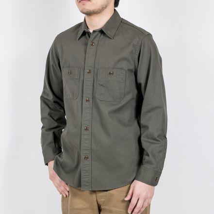 WKSBWSHTKHA Basic Twill Work Shirt(KHAKI)