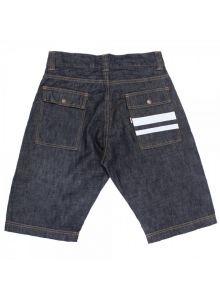 02-022 GTB 10oz Deep Colored indigo bush shorts (One Washed)
