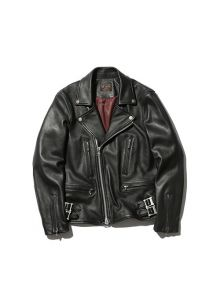 M-18305 HAIR SHEEP SOFT VEGE LEATHER / DOUBLE RIDERS JACKET (2 COLORS)